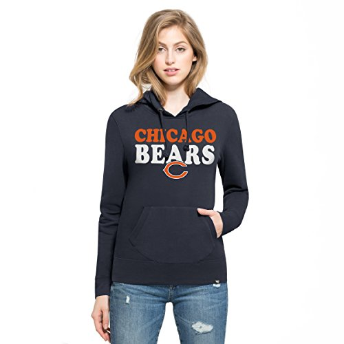 NFL Chicago Bears Women's '47 Headline Pullover Hoodie, Medium, Fall Navy Chicago Bears Pullover