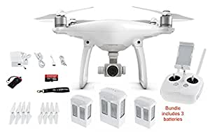 DJI PHANTOM 4 BUNDLE INCLUDES, 2 EXTRA BATTERIES, CAMRISE LANYARD, 32GB MICRO SD CARD AND CAMRISE USB READER