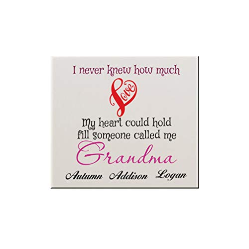 Style In Print Personalized Custom Text Till Someone Called Me Grandma Ceramic Accent Mural Tile Backsplash - 6