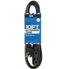 Safe, Efficient Household/Indoor Extension Cord Iron Forge Cables' 10 Ft Extension Cord is the perfect power cable for all your home electrical needs. It offers durable strain relief for optimal performance, and a 3 prong grounded molded male...