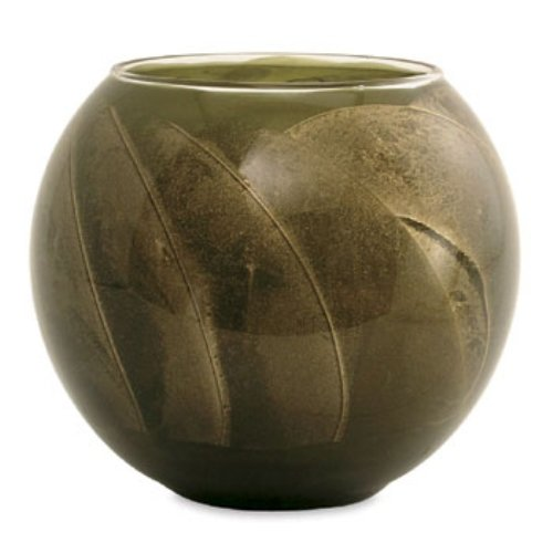 Northern Lights Candles Esque Polished Globe - 4 inch Olive