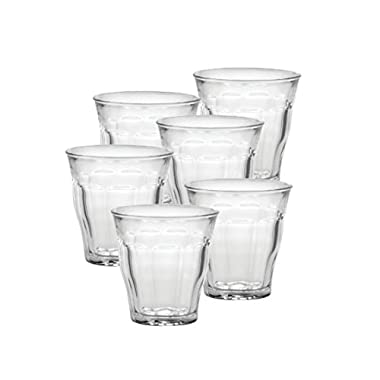 Duralex Made In France Picardie 5-3/4-Ounce Clear Tumbler, Set of 6