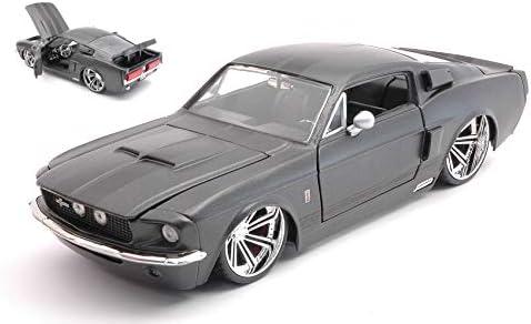 Die Cast Jada Toys Tuning Modellino SHELBY GT500 1967 MATT DARK GREY 1:24