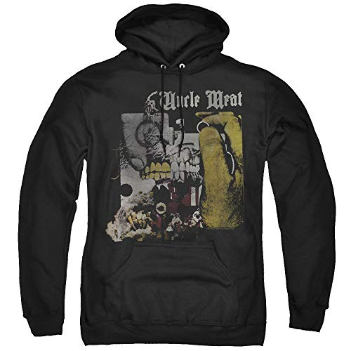 Trevco Frank Zappa Uncle Meat Unisex Adult Pull-Over Hoodie for Men and Women, 2X-Large Black