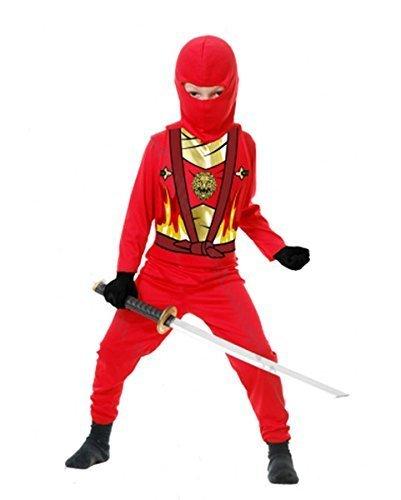 Charades Kid's Child's Ninja Avenger Series 4 Costume Childrens Costume, red, X-Small