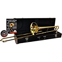 Bb Tenor Trombone Package incl. Mouthpiece, Case, Books and Karaoke-CD+ CD