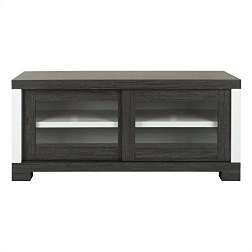 tion Davis Sliding Door TV Cabinet, Dark Grey ()