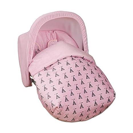 Babyline Tepee - Saco grupo 0, unisex, color rosa