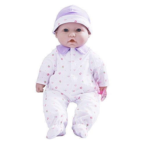 JC Toys, La Baby 16-inch Washable Soft Body Purple Play Doll – For Children 2 Years Or Older, Designed by Berenguer
