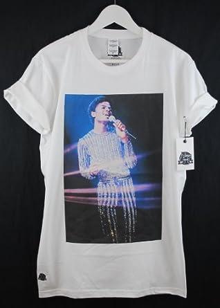 Actual Fact Michael Jackson MJ Rock With You Vídeo Color Camiseta Premium - algodón, blanco, 100% algodón, Hombre, Grande, Blanco: Amazon.es: Ropa y accesorios