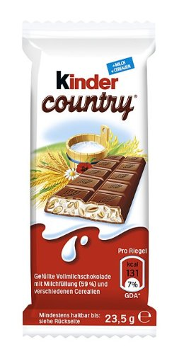 Kinder Country Einzelriegel, 40er Pack (40 x 23 g)