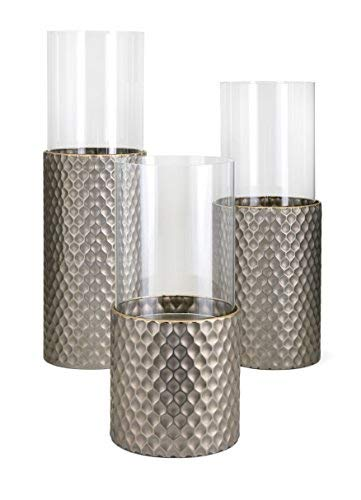 IMAX Candleholders-Set Of 3, Antique Brown (Floor Tall Candle Holders)