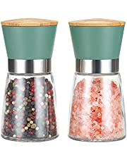 Salt and Pepper Grinder Set - Adjustable Stainless Steel Spice Ceramic Grinders Mill Shaker for Kitchen Table
