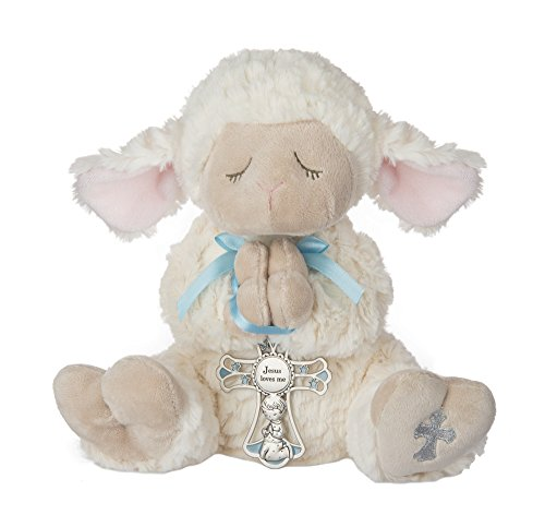 Ganz Serenity Lamb With Crib Cross Christening or Baptism Gift