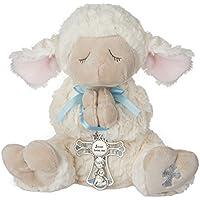 Ganz Serenity Lamb With Crib Cross Christening or Baptism Gift (Blue (Boy))