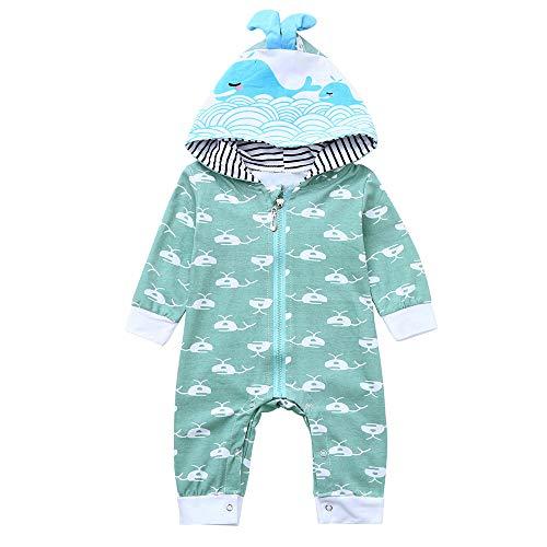 Print Hoodie T-Shirt Romper Jumpsuit Tops for Toddler Infant Newborn Baby Boy Girl (6-12 M) ()