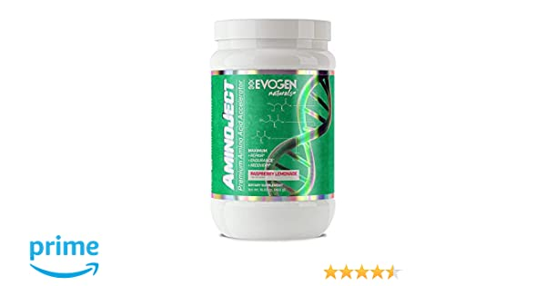 Amazon.com: Evogen Naturals Aminoject | All Natural Vegan Fermented Plant Based BCAA, Glutamine, Citrulline Powder | Raspberry Lemon | 30 Servings: Health ...