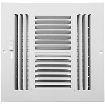 8 x 8 air return grille stamped steel non filter heating vents. Black Bedroom Furniture Sets. Home Design Ideas