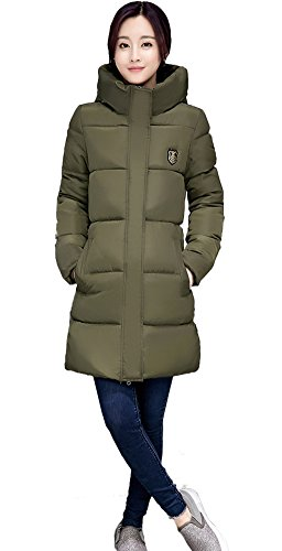 Coat Winter Outerwear Thicken Army Overcoat Hooded Green Long Jacket Warm Tailloday Slim Women's Down Parka wxXSq1vq7R