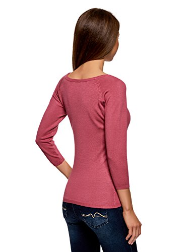 Maniche Rosa 4a00n Basic 4 Con Collection 3 Oodji A Maglia Donna tXxv6wwzq