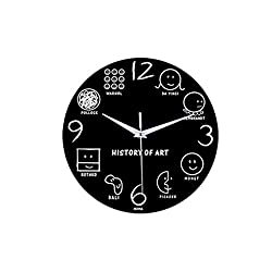 Succper Wall Clock Unique Strichmännchen Wall Clock Silent Non Ticking Quality Quartz Battery Operated Round Easy to Read Home/Office/Classroom/School Clock