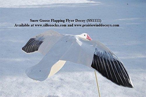 Sillosocks Flapping Snow Goose Decoy, White (Goose Snow)