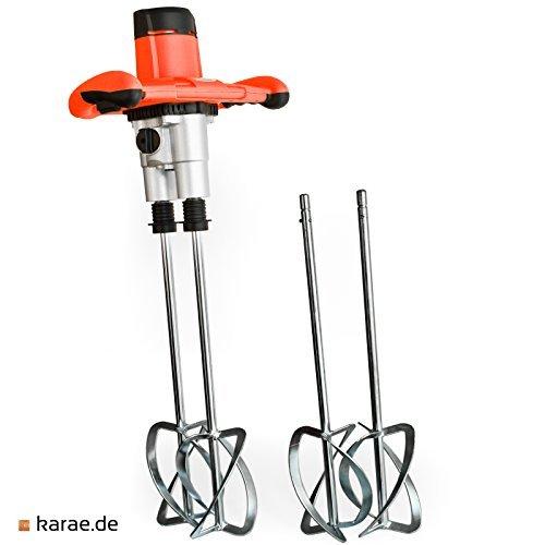 Rührgerät starke 1800 Watt, 4 Quirlen! Rührer Handrührgerät Beton Mischer Mörtelmischer Rührwerk