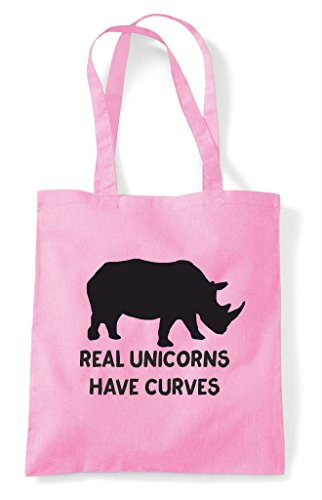Light Shopper Curves Positive Bag Tote Rhino Image Funny Body Pink Have Real Unicorns PvwEqUqA