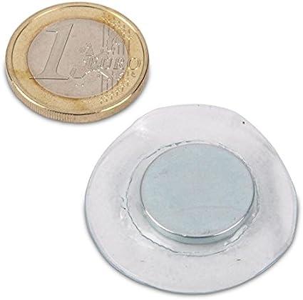 10 St/ück 500 g Haftkraft 10 x 1 mm Maul Neodym-Scheibenmagnet hellsilber rund