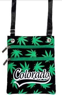 Crossbody Marijuana Bag Weed Leaf Bag Mary Jane Bag Black Silver Orange Colorado Original Robin Ruth Bag