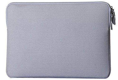YiJee Wasserdicht Sleeve Laptoptasche Notebookhülle Zubehörtasche für MacBooks 11.6 Zoll Grau