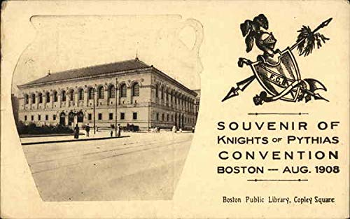 Souvenir of Knights of Pythias Convention, Aug. 1908 Boston, Massachusetts Original Vintage Postcard from CardCow Vintage Postcards