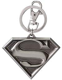 Superman Logo Pewter Keyring