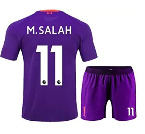 af1d1dc86 LISIMKE Soccer Team 2018 19 Liverpool Away Soccer Salah  11 Kid Youth  Replica Jersey Kit   Jersey   Shorts   Socks (10-11Years size26)