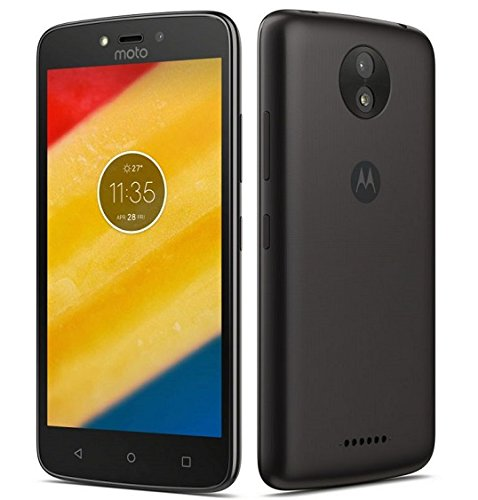 Motorola Moto C 3G H+ Unlocked XT1750 Quad Core 8GB Android 7.0 Dual Sim 5 Inch International Version (Starry Black)