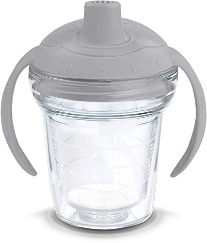 91947893de4b1 Tervis 1178383 Clear Tumbler with Wrap and Moondust Gray Lid 6oz My ...