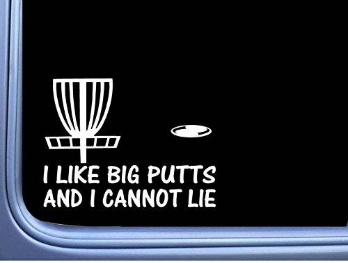I Like Big Putts Disc Golf L777 6 inch Sticker Putter Driver Basket Decal
