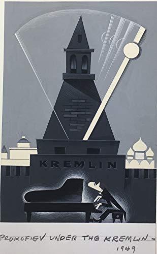 "[Prokofiev, Sergei. (1891?1953)] Norkin, Sam. (1917?2011):""Prokofiev under the Kremlin"" - Original Cartoon Drawing"
