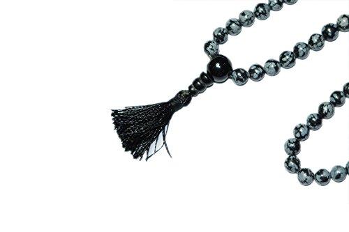 Intérieur Mogul obsidion, perles, collier mala tibétain de Prière Bouddhiste, pierres de guérison, Chakra Bijoux pour la méditation