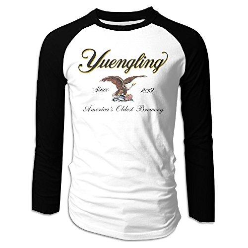 LOVEGIFTTO MEN Mens Yuengling Premium Beer Long Sleeve Comfort Raglan Tee Shirt (Premium Raglan)