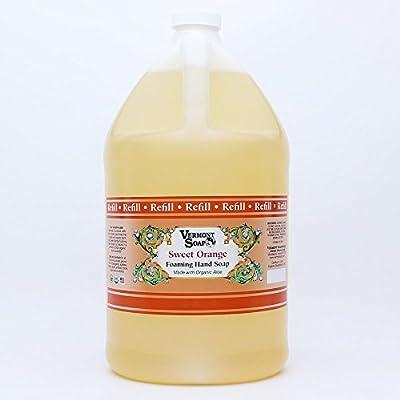 Vermont Soap Organics - Orange Foaming Hand Soap Gallon Refill
