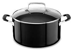 KitchenAid KC2A60LCOB 6.0 Qt Low Casserole with Lid - Onyx Black, Medium
