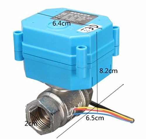 1/2Inch NPT Electric Motorized Ball Valve Stainless Steel DC24V DN15 2-Way 3-Wire by AdvancedShop by Advanced (Image #1)