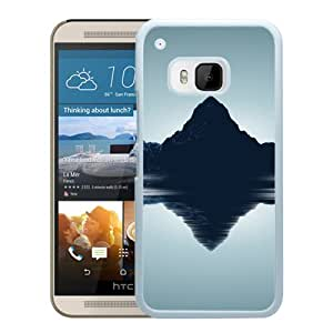 New Beautiful Custom Designed Cover Case For HTC ONE M9 With Nature Mountain Reflection (2) Phone Case