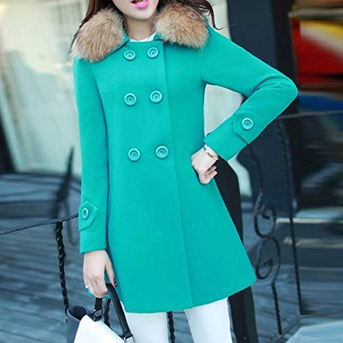 Outwear Jacket Warm Verde Slim Para Mujer Casual Zodof Fur Overcoat Coat Cardigan Womens Collar Chaqueta Parka HqpBwvngxv