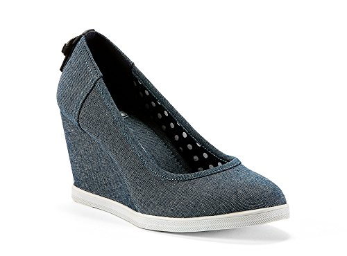 Made Spring Fabric Womens from Perfect amp; Blue Fall Walk Summer Travel in Evenings Casual Comfortable Textile Dressy for Playa Shoes amp; Wedge dYwzqwFU