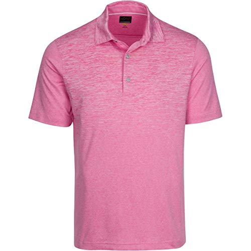 Greg Norman Equinox Polo, Pink Tropic Heather, - Greg Shirt Striped Norman Polo
