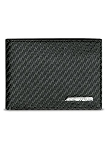 Mercedes Benz Men's AMG Carbon fiber Leather Mini Wallet made in Germany