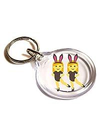 Woman With Bunny Ears Emoji Key Ring