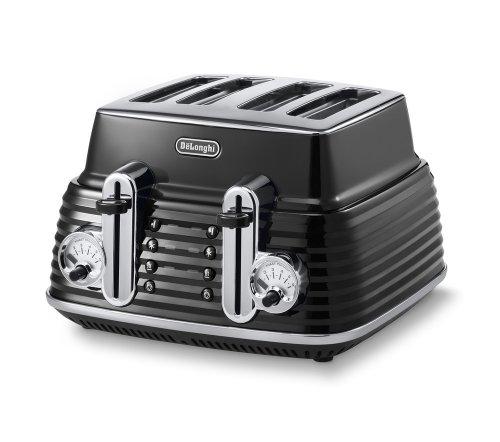 De'Longhi Scultura CTZ4003BK 4-Slice Toaster - Black